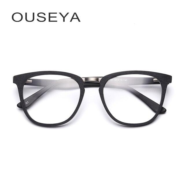 e3cee35f7 acetato armação de oculos de grau masculino quadrada Nerd Geek decoração  retro transparente clara na moda