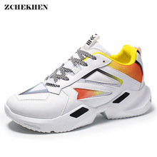 Men Shoes Chunky Sneakers Breathable Tenis Masculino Off Mesh Light White Footwear Lace Up Male Shoes Adulto Zapatos Hombre fires shoes for men summer sneakers tenis masculino adulto casual scarpe male footwear chaussures femme breathable shoes zapatos