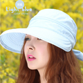 New Fashion Sun Hat Women's Summer Dual-use anti-UV Bow Lady Visors Beach Headwear Top Quality Wholesale Chapeu Feminino