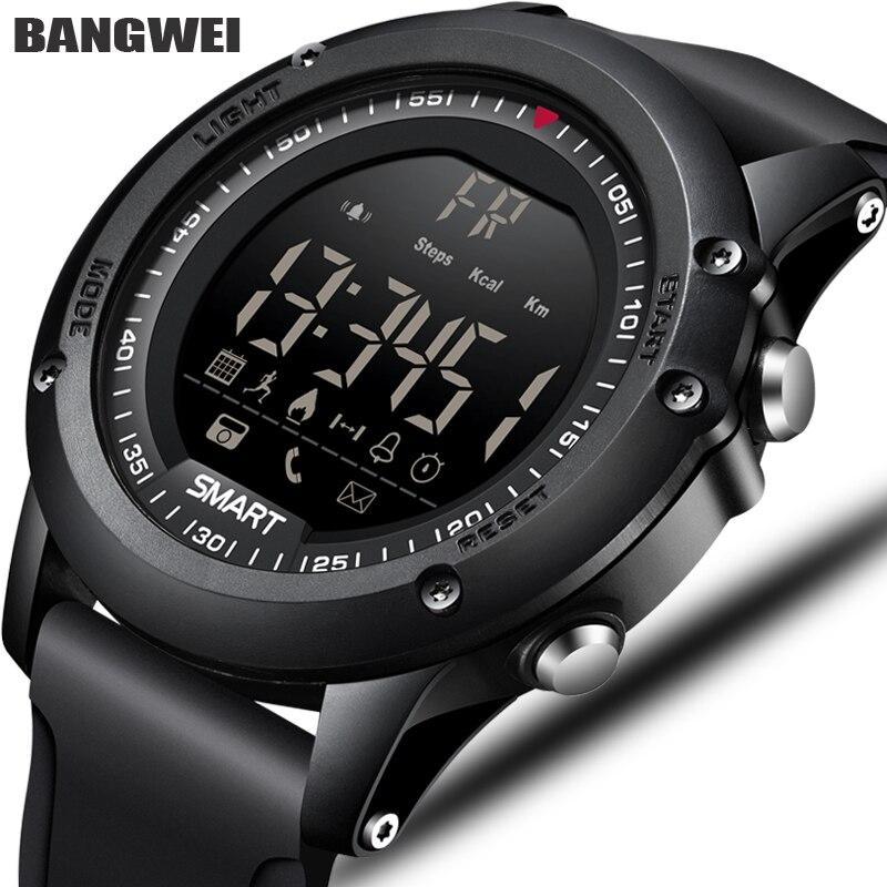 BANGWEI Sport Hommes Montre Intelligente Hommes Podomètre Calories Étanche Smartwatch Électronique Poignet Montres Pour Hommes Numérique Bluetooth