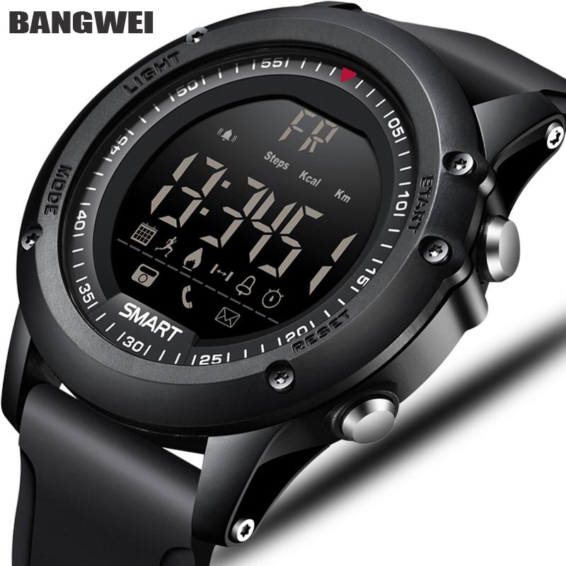 BANGWEI Sport Mens Astuto Della Vigilanza Degli Uomini Pedometro Calorie Impermeabile Smartwatch Elettronico Da Polso Orologi Per Gli Uomini Digitale Bluetooth