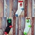 OtherLinks 3 unids/set 2017 Fruto de Impresión Ocasional Lindo de la Historieta Calcetines Conjuntos Chica Nueva Moda Acogedor Calcetines Conjunto: Sandía Aguacate Pitaya