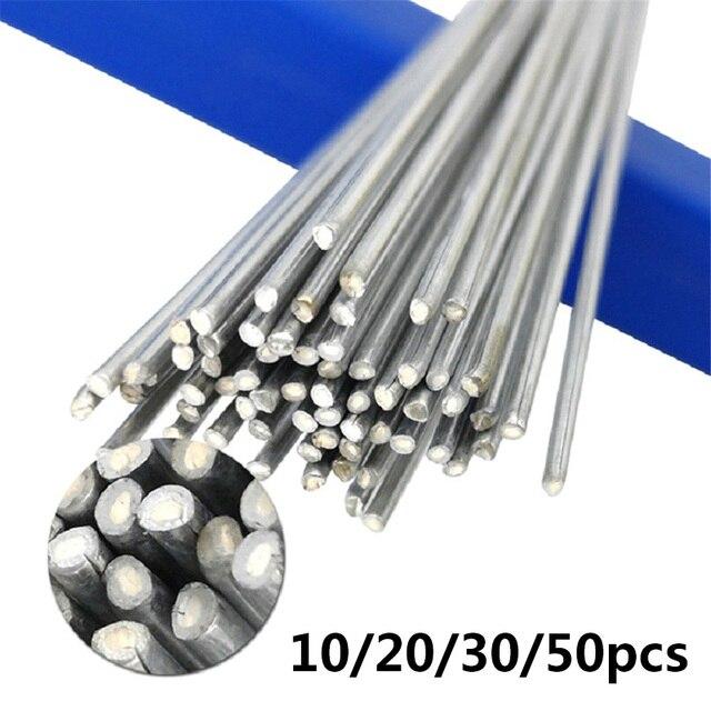 10/20/30/50pcs 1.6mm/2mm*50cm Low Temperature Aluminum Welding Wire  Instead Of WE53 Copper And Aluminum Rod No Aluminum Powder