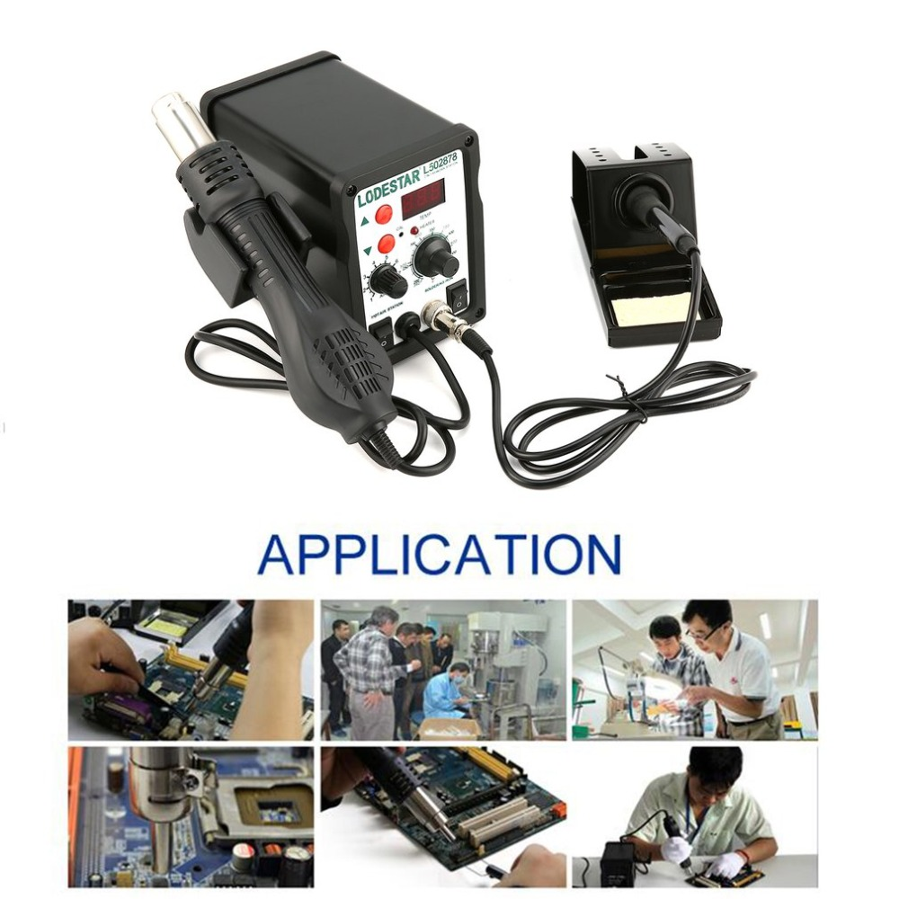 Authentic LODESTAR 2in1 Digital Display SMD Hot Air Rework Station And Soldering Iron Hot Air Gun Heat Gun Desoldering Tool saike 858 hot air gun rework station heat gun desoldering station