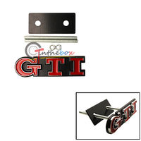 1PC GTI Car Front Grille Badge For VW GTI GOLF MK2 MK1 Grill Chrome Auto Emblem