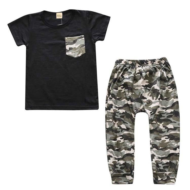 2016 New summer baby boy clothes cotton Fashion letters printed T-shirt+pants 2pcs baby boys clothing set infant 2pcs suit
