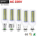 LED Lamps 5730 220V E14/E27/B22/GU10/G9 56-72 leds Lights Corn Led Bulb Christmas Chandelier Candle Lighting D02