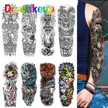 New Fashion Tattoo Sticker Unisex Waterproof Temporary Wolf Tiger Dragon Shantou Women Men Body Art Fake Tatoos Chains