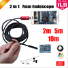 7MM 2IN1 USB Endoscope Android Camera 2M 5M 10M Snake Tube Pipe Waterproof Phone PC Endoskop