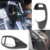 For BMW F20 F22 F21 F30 F32 F33 F36 F06 F12 F13 X5 F15 X6 F16 M Sport Carbon Fiber Carbon Gear Knob Cover high quality