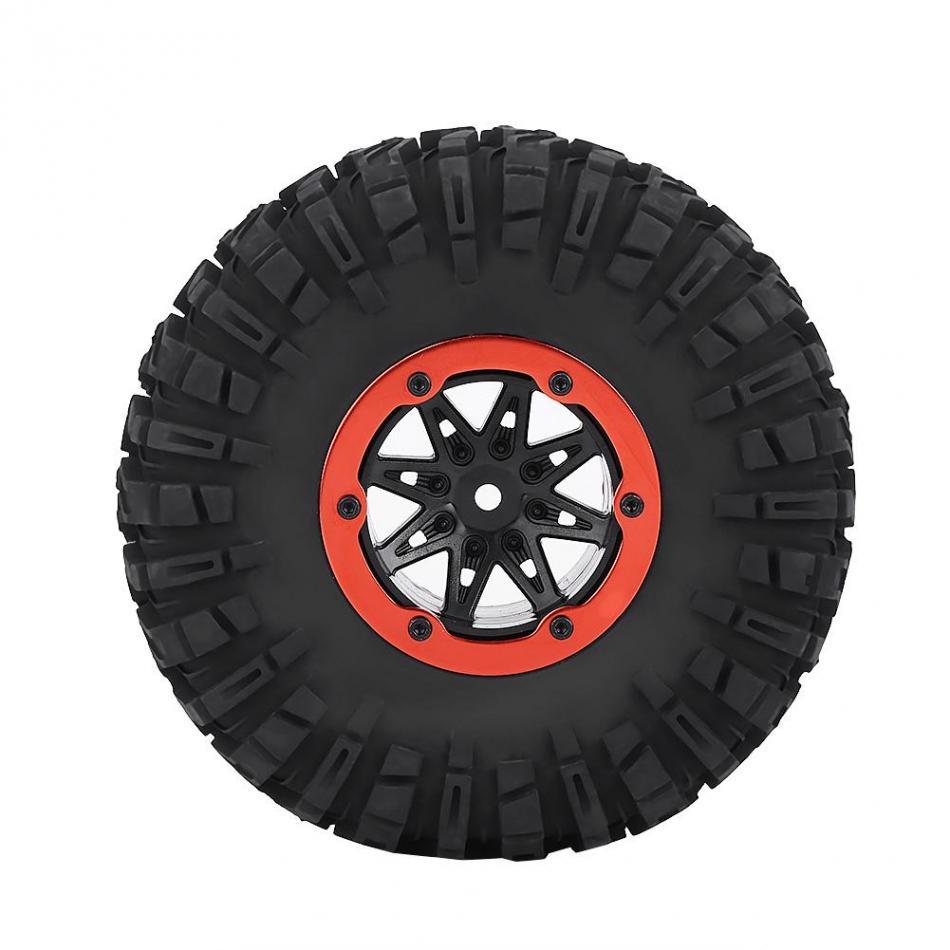 1pc Rubber Tyre Tires & Orange Plastic Hubs Wheel for RC