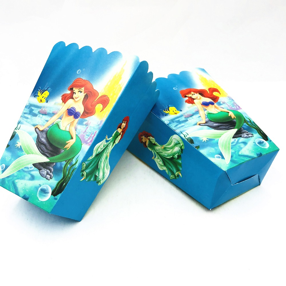 Little Mermaid Popcorn Favor Bags For Birthday Party Decorations Ideas Mermaid Party Supplies Baby Shower Paper Popcorn Boxes-in Gift Bags u0026 Wrapping ...  sc 1 st  AliExpress.com & Little Mermaid Popcorn Favor Bags For Birthday Party Decorations ...