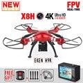 NUEVA SYMA X8HG FPV RC Drone Con 4 K 1080 P Cámara de La Acción WIFI Altitud Hold Dron RC Quadcopter 6-Axis RTF Helicóptero VS JJRC H31