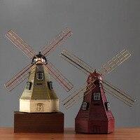 Ретро ностальгические кованого железа Голландская мельница Копилка модель творческие фотостудия свадебной фотографии реквизит декоратив