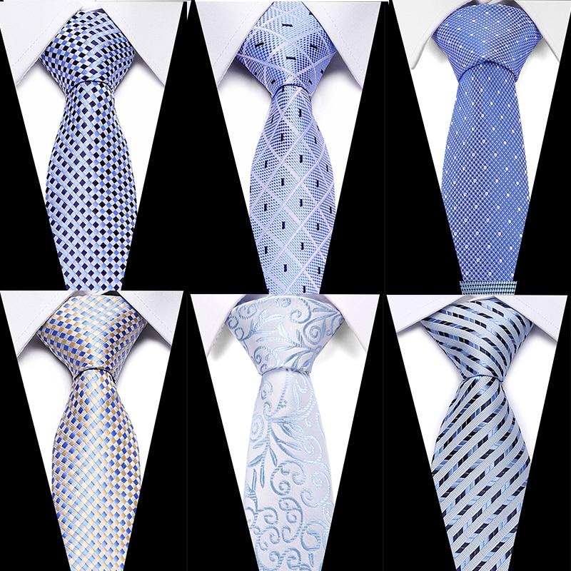 Luxury 7.5cm Men's Classic Tie Silk Jacquard Woven Plaid Check Striped Cravatta Ties Man Bridegroom Business Necktie Accessories