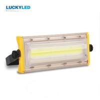 LUCKYLED LED floodlight 50W Waterproof IP65 flood light AC220V spotlight outdoor lighting for Gargen wall Lamp 100% power