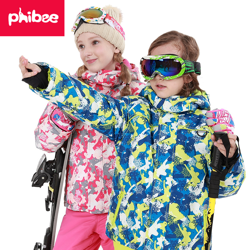 Russia -30 Degree Children Winter Clothes Set Windproof Jackets+pant Kids Winter Snow Suits Girls Outdoor Warm Ski Suit