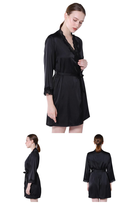 c6d61e1069 Vislivin nuevo encaje Sexy Bata para dormir mujer camisón cuello en ...
