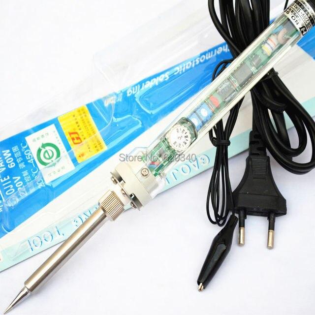 ЕС Plug Высокое качество 907 Регулируемая постоянная температура свинца внутренний нагрев Электрический паяльник 220V60W Бесплатная доставка