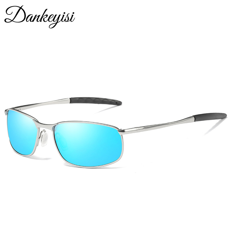 DANKEYISI Male Sunglasses Polarized Square Metal Driver Men Sunglassses Retro Sun Glasses For Men Women 2017 Free Box Bag ...