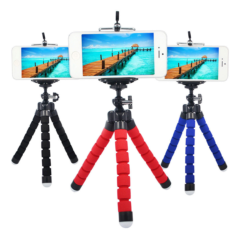 Mini Portable Flexible Spong Adjustable Octopus Tripod  Phone Holder Mount Monopod Bracket Stand For iPhone Samsung Sony
