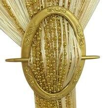 Nuevos accesorios Vintage hebilla para cortina de ventana correa de gancho correas de gancho alta calidad 6 colores para decoraciones del hogar