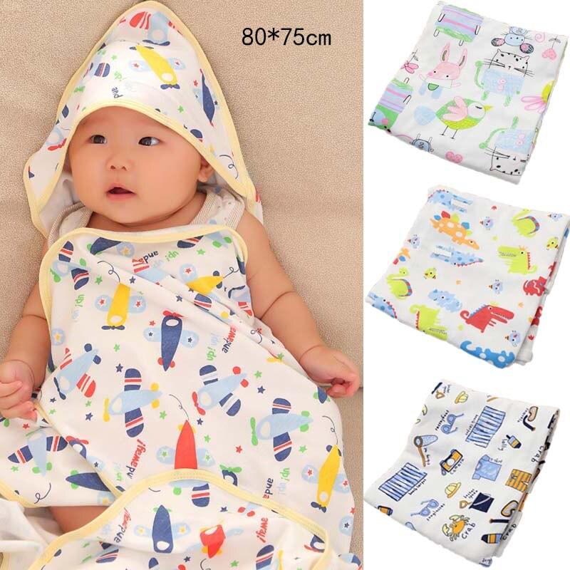 Baby Bathrobe Hooded Bath Towel Baby Stuff Kids Bath Towels Blanket Bedding AG