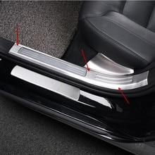 Нержавеющая Сталь автомобильный Стайлинг порога Накладка Добро пожаловать педаль порога полосы для Volvo S90-18 Авто аксессуары для интерьера