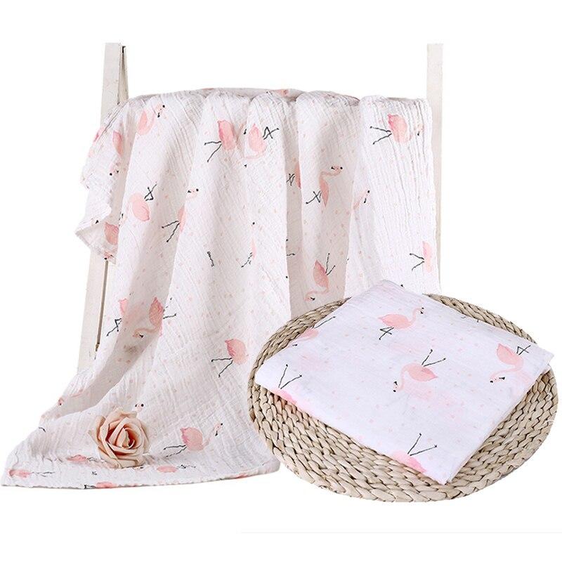 Muslin 100% Cotton Baby Blanket Cartoon Animal Soft Newborn Blankets Swaddles Bath Gauze Infant Wrap Sleepsack Stroller Cover