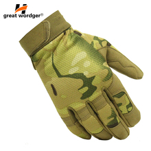 NEW Military Lightweight Combat Gloves Mens Army Tactical Camouflage Full Finger Paintball
