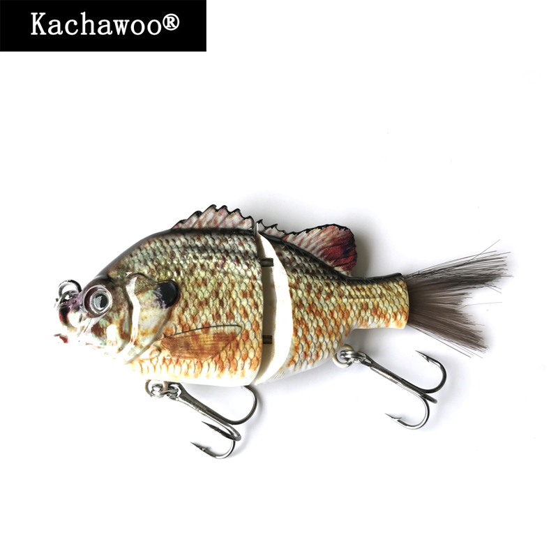 10pcs/lot 2 Section Segments Crankbaits Hair Tail Sunfish Lures 5 inch 45g Swimbait Artificial Lures for Fishing Tournaments