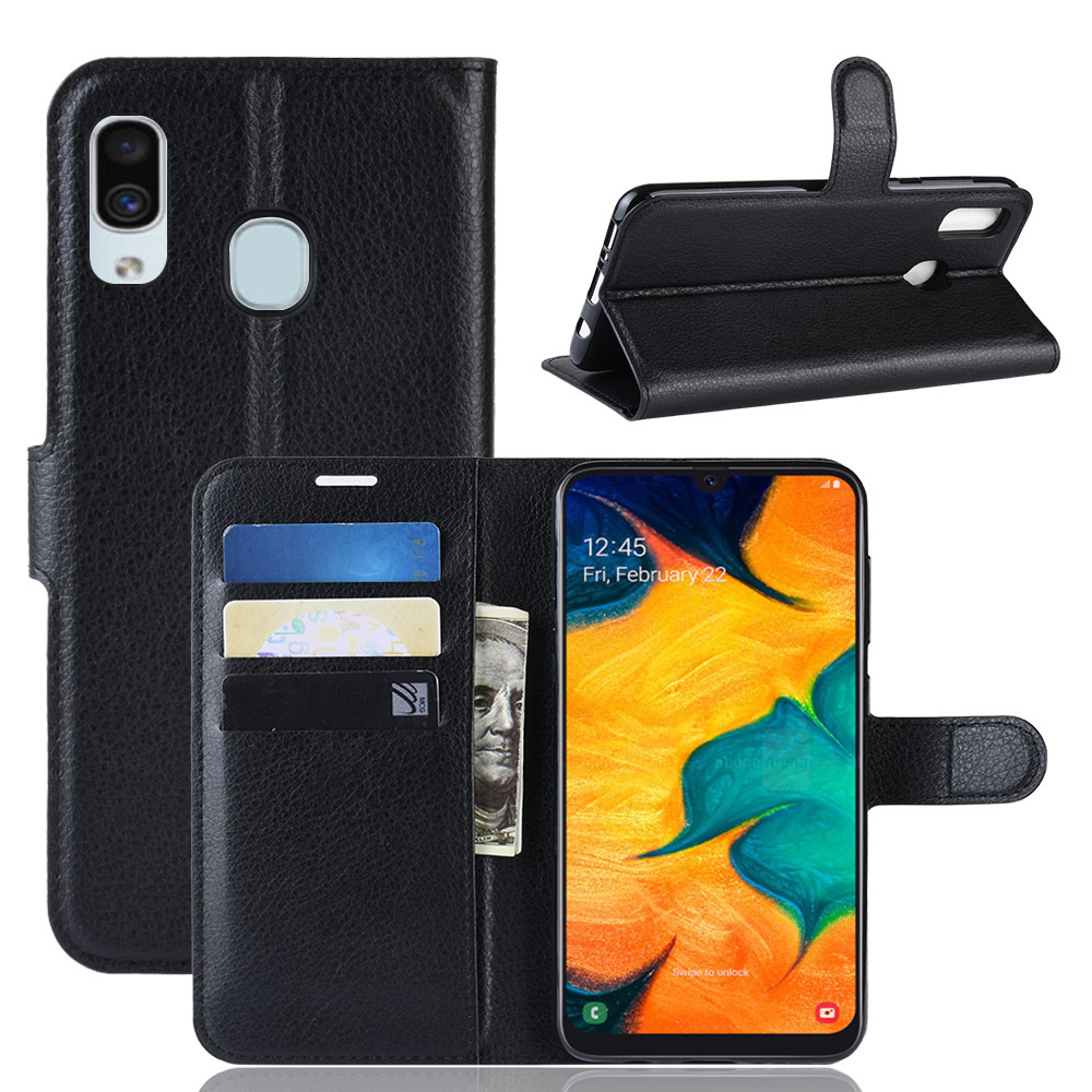 Leather Flip Case for Samsung Galaxy A10 A20 A30 A40 A50 A60 A70 A80 A90 Wallet Cover Case for Samsung A10E A20E A2 Core coque in Flip Cases from Cellphones Telecommunications