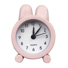 Creative Cute Mini Metal Small Alarm Clock Electronic Small Alarm Clock Charminer Portable Fashion Double Bell Alarm Clock #80(China)