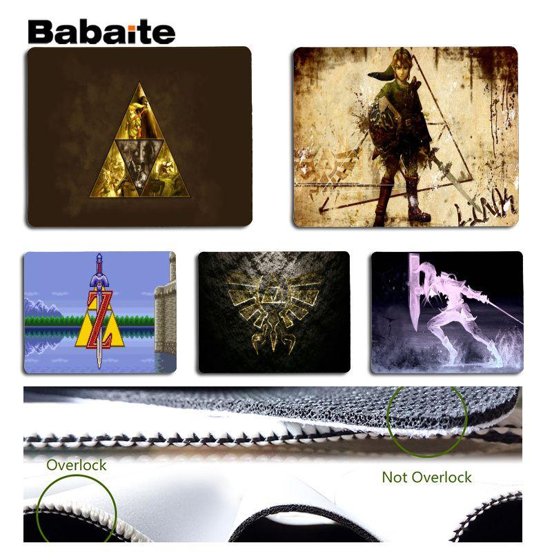 Babaite New Designs Legend of Zelda Large Mouse pad PC Computer mat Size for 180x220x2mm and 250x290x2mm Design Mouse Pad