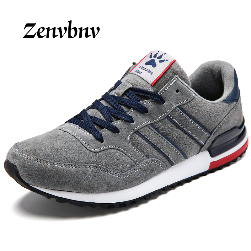 ZENVBNV Spring 2018 Brand Fashion Casual Shoes Men Genuine Leather Vintage Leisure sneakers Slip On Casual walking Male Shoes