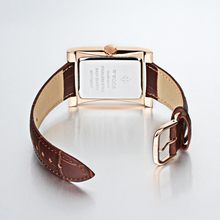 Top Brand WWOOR Men Watch Square Quartz Watch Waterproof Ultra-thin Man Business Leather Wrist Watches for Men Relogio Masculino
