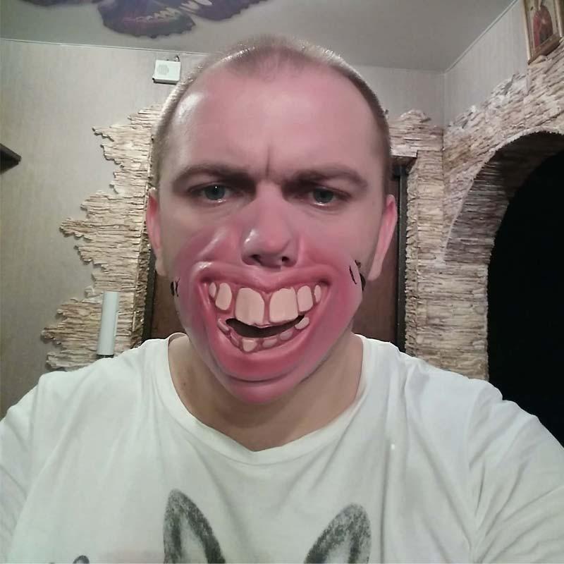 Velké zuby Latexová maska Maškarní párty Hrůza Strašidelný elastický pásek Polovina tváře Masky Legrační kostýmní rekvizity Party Dodávky Vánoční