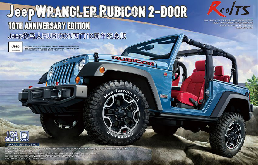 Meng Model 1 24 CS 003 Jeep Wrangler Rubicon 2 Door