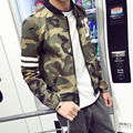 2016 New Spring Jacket Fashion Baseball Collar Slim Fit Men Jacket Plus Size Casual Mens Outerwear 5XL-M 10Styles
