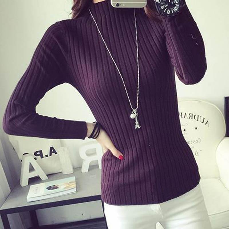 Short design sweater women knitted basic shirt thin spring 2018 new female pullover sweater slim tight teenager girl S M L