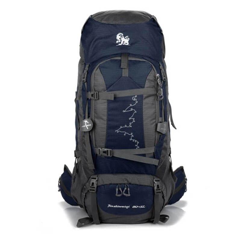 85L Waterproof Outdoor Hiking Backpacks Men Nylon Sports Bag Backpack Camping Travel Climbing Mountaineering Rucksack Male