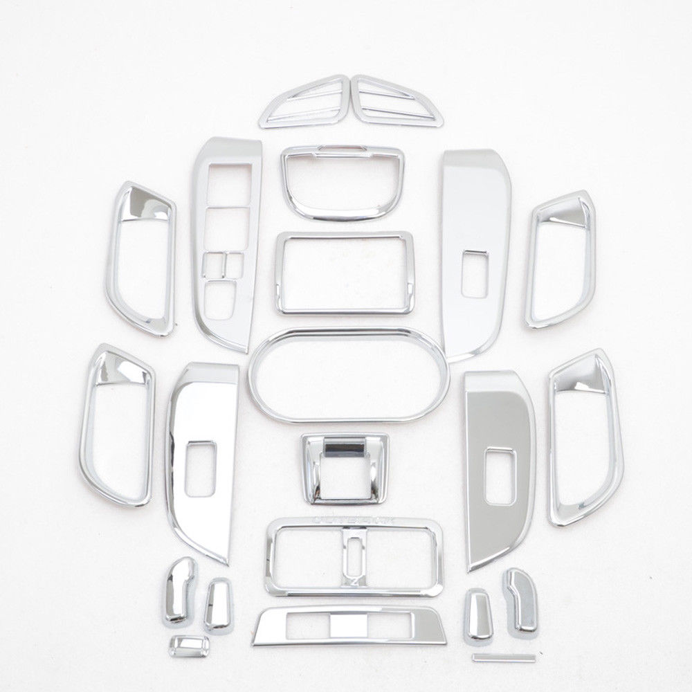 Фото 22pcs Car Interior Chrome ABS Whole Set Interior Moulding Cover Trim Decal Fit for Subaru Outback 2015 2016 Car Styling Decorate