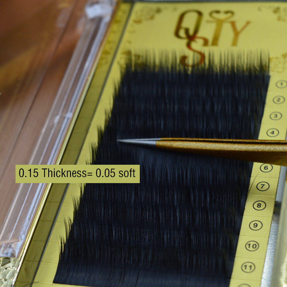10trays/Lot, Ellipse Flat False Eyelash Extensions Soft Thin Tip Flat Roots New Products ...
