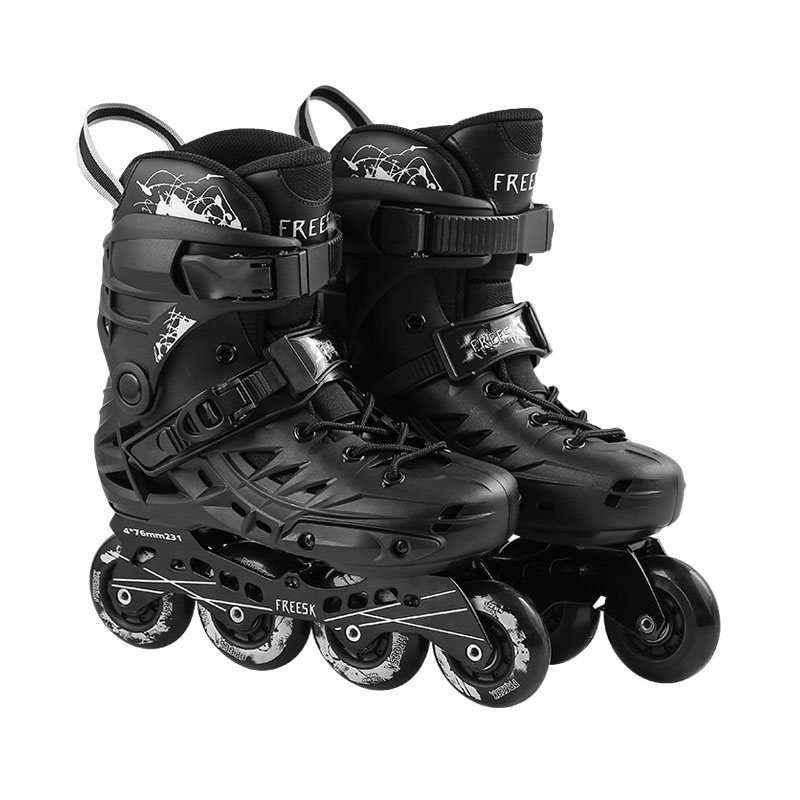 FREESK Inline Slalom Skate Adult's Roller Skating Shoes Inline Skates With 90A Wheels For Street Free Skating Men Women children roller sneaker with one wheel led lighted flashing roller skates kids boy girl shoes zapatillas con ruedas