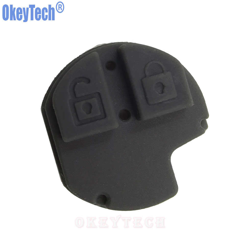 OkeyTech New 2 Buttons Car Remote Key Fob Rubber Button Repair Pad for  Suzuki Swift SX4 Liana Aerio Vitara Jimny Key Pad