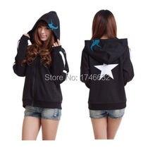 BRS Black Rock Shooter Cosplay Anime Hoodie Costume sweatshirt Sweater Clothing Free Shipping