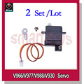 2Set V966-011 Servo for Wltoys V966 V977 V988 V930 RC Helicopter Spare Parts