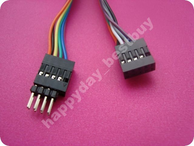 FREE SHIPPING Internal Motherboard USB 2.0 male to female M/F female Extension Cable Cord 8pin