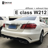 Mercedes W212 AMG Style Rear Diffuser with 4 Outlet Exhaust Tips For E Class W212 AMG Package Sport Edition Facelift