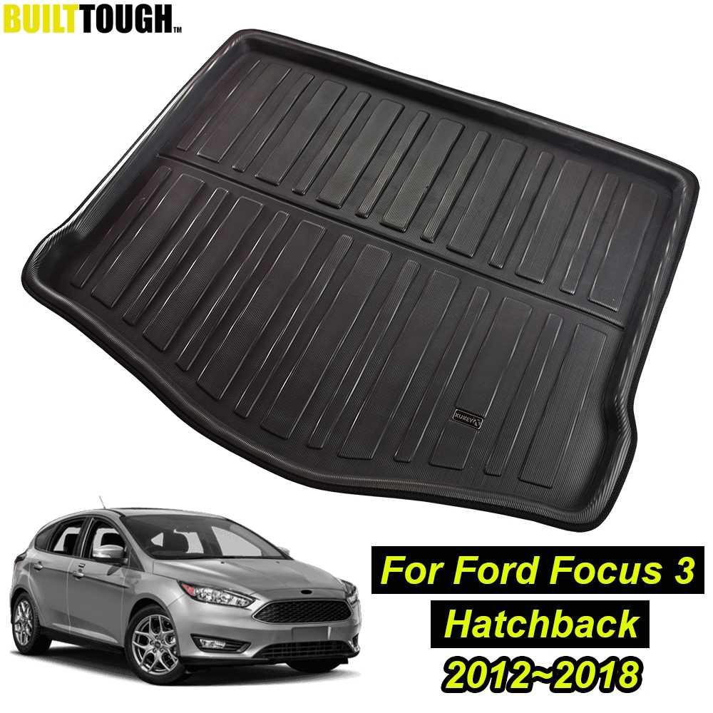 pour Ford pour Focus MK3 Hayon 2012 2013 2014 2015 2016 2017 2018 Coffre Arri/ère Tapis De Coffre Doublure De Cargaison Tapis De Sol Accessoires De Voiture